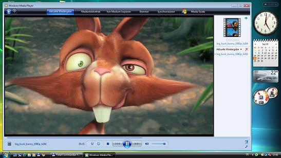 Big Buck Bunny full HD; h.264 codiert